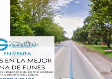 Interesante Lote en la mejor zona de Funes - Esquina - Disponemos de dos lotes contiguos