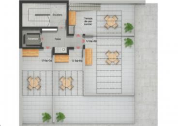 Depto Un dormitorio - PB al frente - Terraza uso común con parrilleros - Edificio en construcción - Ricchieri 402